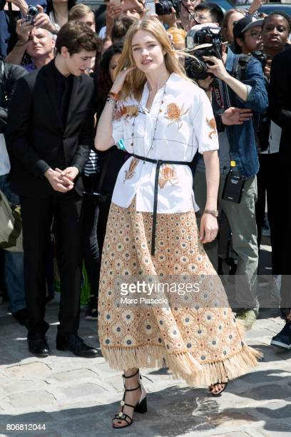 Natalia Vodianova attends the Christian Dior Haute Couture Fall/Winter 20172018 show as part of Paris Fashion Week on July 3 2017 in Paris France