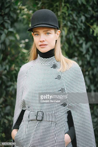 Natalia Vodianova attends the Christian Dior Haute Couture Spring Summer 2017 show as part of Paris Fashion Week at the Rodin museum on January 23...
