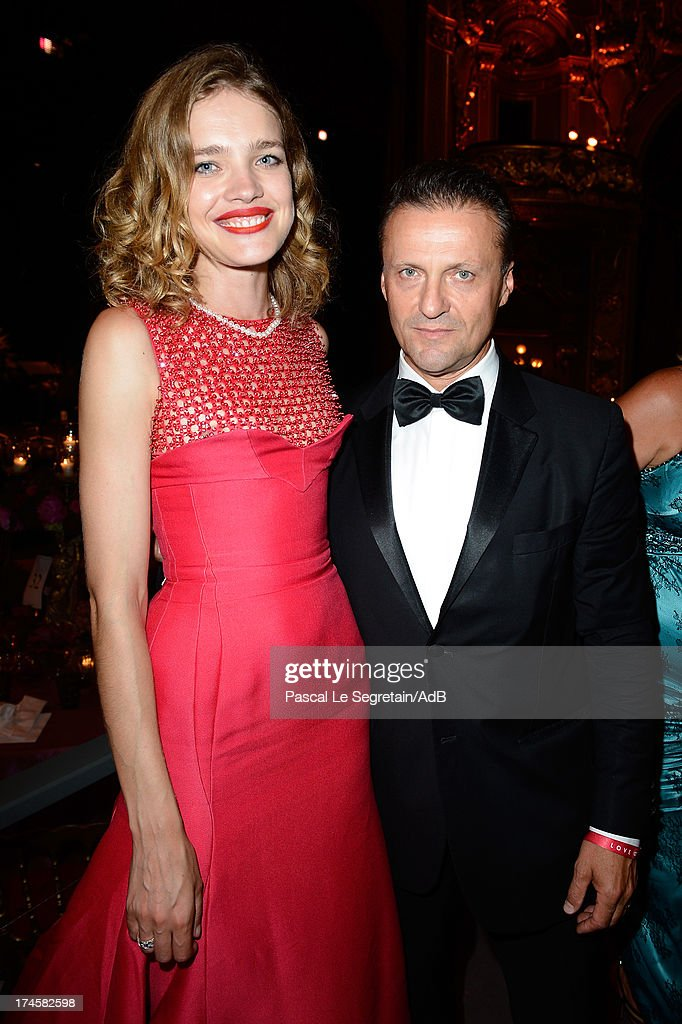 Natalia Vodianova (L) attends the dinner at 'Love Ball' hosted by Natalia Vodianova in support of The Naked Heart Foundation at Opera Garnier on July 27, 2013 in Monaco, Monaco.