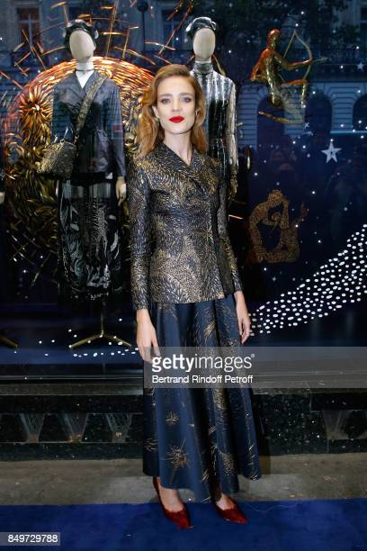 Natalia Vodianova attends the Inauguration of the Dior showcases at Galeries Lafayette for Christian Dior celebrates 70 Years of Creation at the...