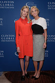 Natalia Vodianova attends the CGI launch of ELBI with Corinna SaynWittgenstein Strategic Advisor at CGI at the Opening Plenary Session The Future of...