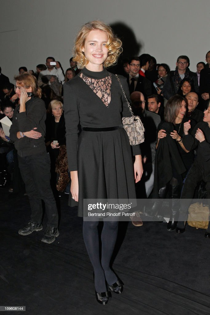 Natalia Vodianova attends the Louis Vuitton Men Autumn / Winter 2013 show as part of Paris Fashion Week on January 17, 2013 in Paris, France.
