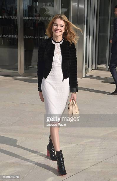Natalia Vodianova attends the Louis Vuitton show as part of Paris Fashion Week Fall Winter 2015/2016 on March 11 2015 in Paris France