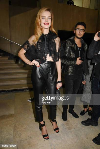 Natalia Vodianova attends the Schiatzy Chen show as part of the Paris Fashion Week Womenswear Spring/Summer 2018 on October 2 2017 in Paris France