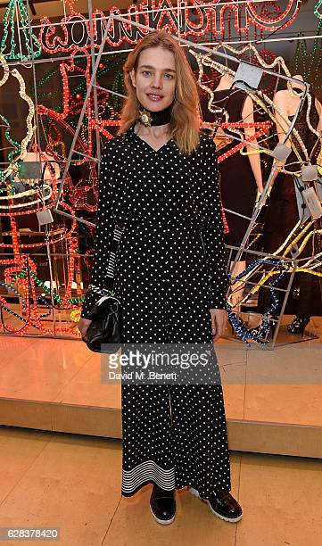 Natalia Vodianova attends the Stella McCartney Christmas Lights switch on at the Stella McCartney Bruton Street Store on December 7 2016 in London...