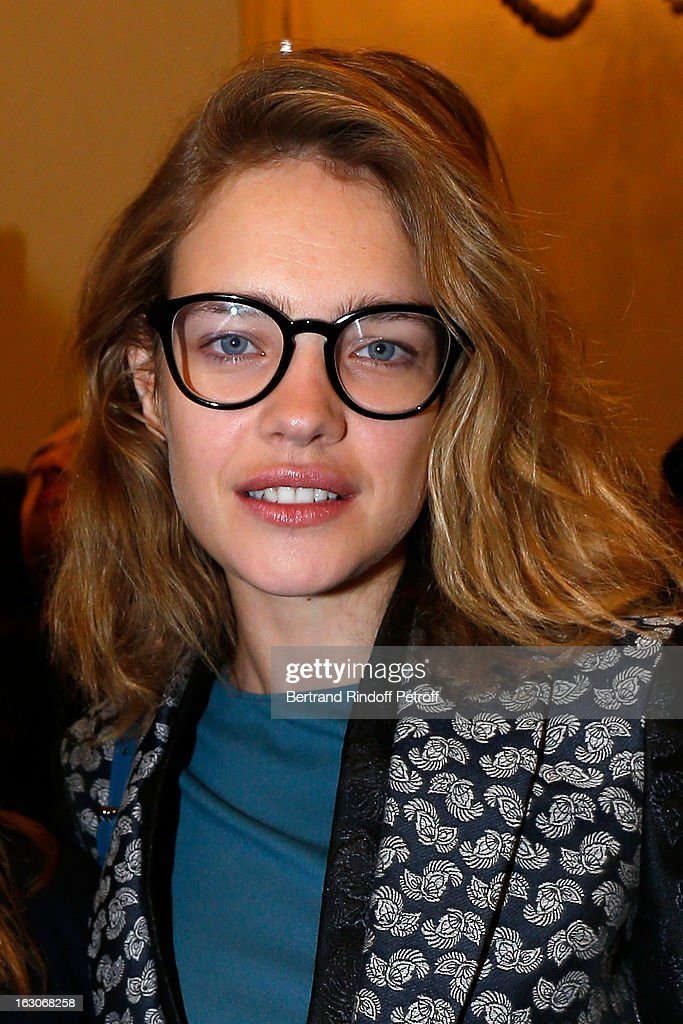 Natalia Vodianova attends the Stella McCartney Fall/Winter 2013 Ready-to-Wear show as part of Paris Fashion Week on March 4, 2013 in Paris, France.