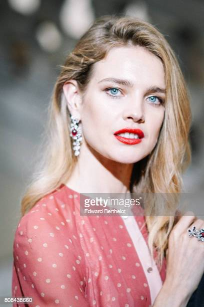 Natalia Vodianova attends the Ulyana Sergeenko Haute Couture Fall/Winter 20172018 show as part of Haute Couture Paris Fashion Week on July 4 2017 in...