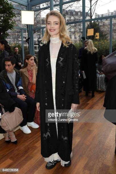 Natalia Vodianova attends the Valentino show as part of the Paris Fashion Week Womenswear Fall/Winter 2017/2018 on March 5 2017 in Paris France