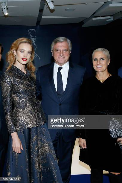Natalia Vodianova CEO of Dior Sidney Toledano and Stylist of Dior Maria Grazia Chiuri attend Christian Dior celebrates 70 Years of Creation at the...