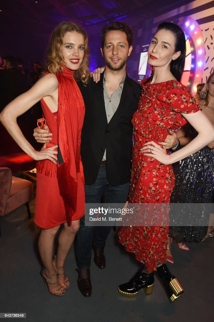 Natalia Vodianova, Derek Blasberg and Erin O'Connor attend LondonÕs Fabulous Fund Fair hosted by Natalia Vodianova and Karlie Kloss in support of The Naked Heart Foundation on February 21, 2017 at The Roundhouse in London, England.