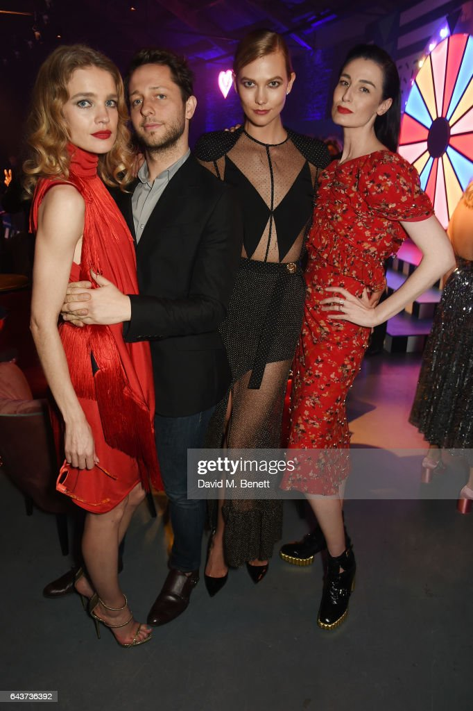 Natalia Vodianova, Derek Blasberg, Karlie Kloss and Erin O'Connor attend LondonÕs Fabulous Fund Fair hosted by Natalia Vodianova and Karlie Kloss in support of The Naked Heart Foundation on February 21, 2017 at The Roundhouse in London, England.