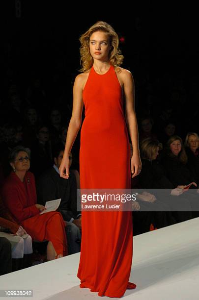 Natalia Vodianova during Red Dress Collection 2004 Raising Awareness Of Women And Heart Disease at Bryant Park in New York City New York United States