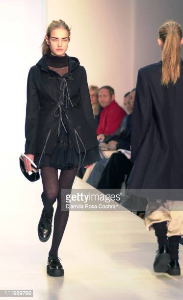 Natalia Vodianova in Luella Bartley Fall 2003 during MercedesBenz Fashion Week Fall 2003 Collections Luella Bartley Runway at Bryant Park in New York...