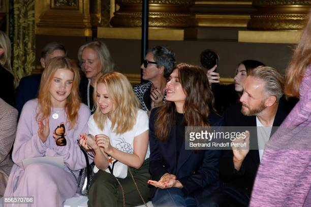 Natalia Vodianova Kylie Minogue Charlotte Casiraghi and husband of Stella Alasdhair Willis attend the Stella McCartney show as part of the Paris...