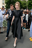 Natalia Vodianova leaves the Christian Dior Haute Couture Fall/Winter 20162017 show as part of Paris Fashion Week on July 4 2016 in Paris France