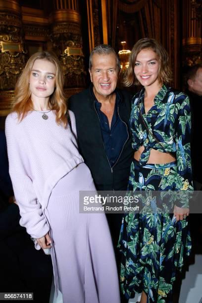 Natalia Vodianova Mario Testino and Arizona Muse attend the Stella McCartney show as part of the Paris Fashion Week Womenswear Spring/Summer 2018 on...