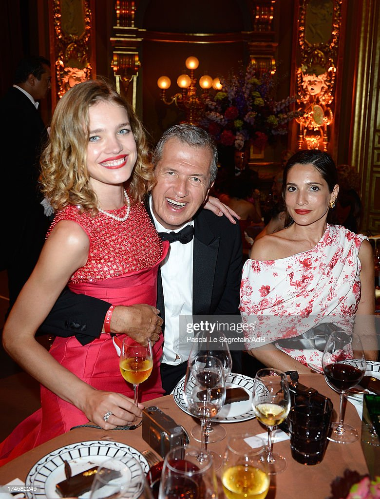 Natalia Vodianova, Mario Testino and Astrid Munoz attend the dinner at the 'Love Ball' hosted by Natalia Vodianova in support of The Naked Heart Foundation at Opera Garnier on July 27, 2013 in Monaco, Monaco.