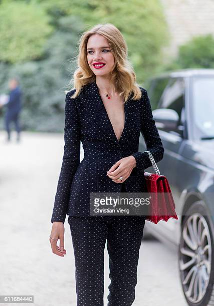 Natalia Vodianova outside of Dior on September 30 2016 in Paris France