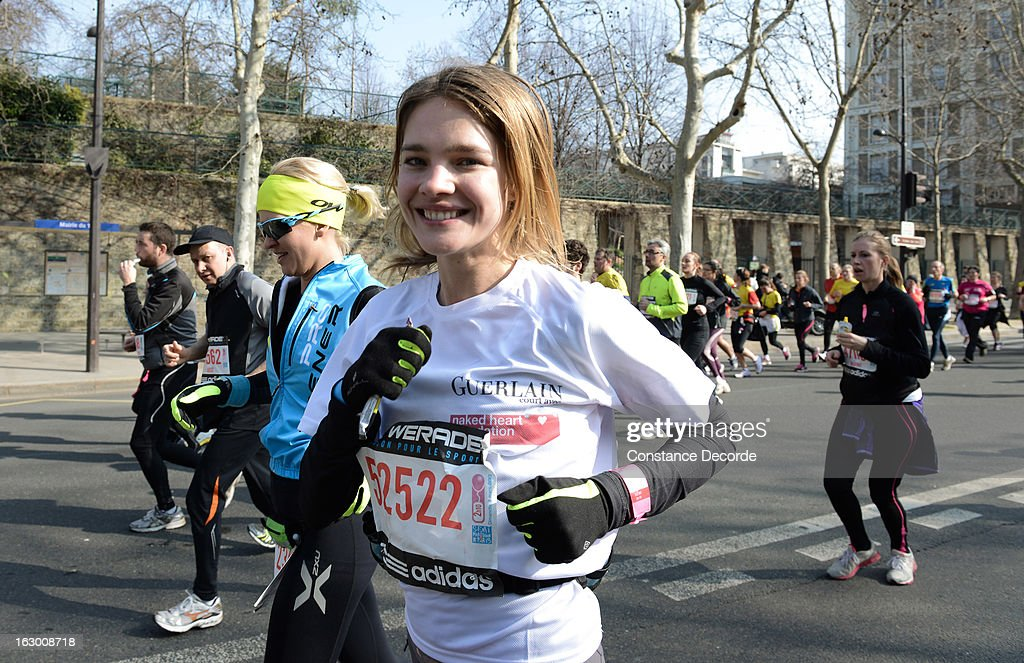 Natalia Vodianova runs for 'Naked Heart Foundation' in the Paris Semi-Marathon 2013 on March 3, 2013 in Paris, France.