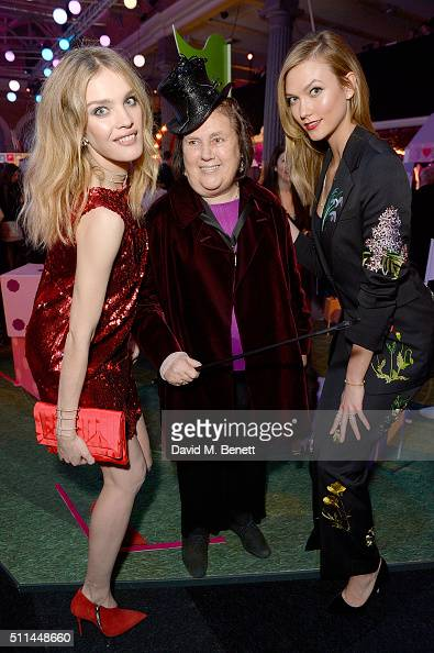 Natalia Vodianova Suzy Menkes and Karlie Kloss at The Naked Heart Foundation's Fabulous Fund Fair in London at Old Billingsgate Market on February 20...