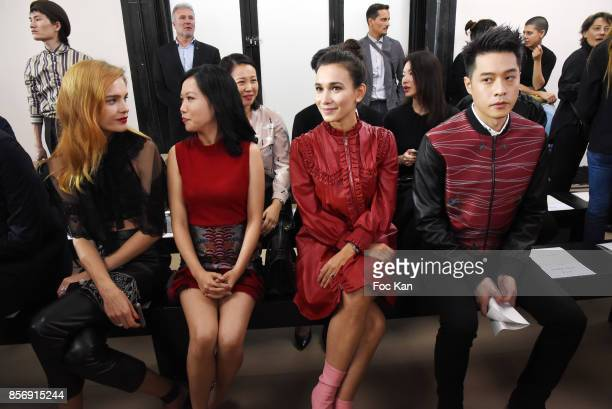 Natalia Vodianova two guests and Tang Hao Chou attend the Schiatzy Chen show as part of the Paris Fashion Week Womenswear Spring/Summer 2018 on...