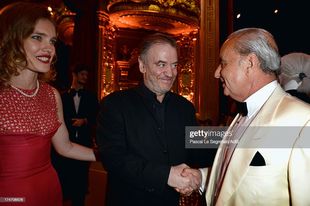Natalia Vodianova, Valery Gergiev and Samir Traboulsi attend the dinner at 'Love Ball' hosted by Natalia Vodianova in support of The Naked Heart Foundation at Opera Garnier on July 27, 2013 in Monaco, Monaco.