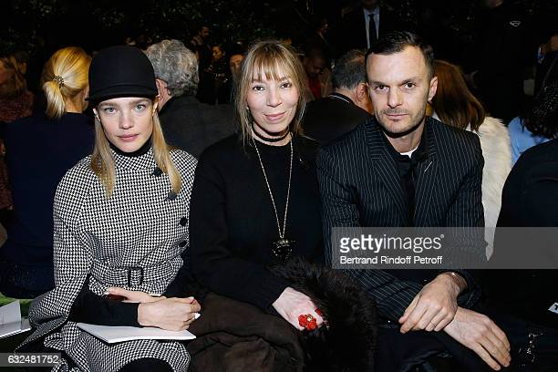 Natalia Vodianova Victoire de Castellane and Stylist Kris Van Assche attend the Christian Dior Haute Couture Spring Summer 2017 show as part of Paris...