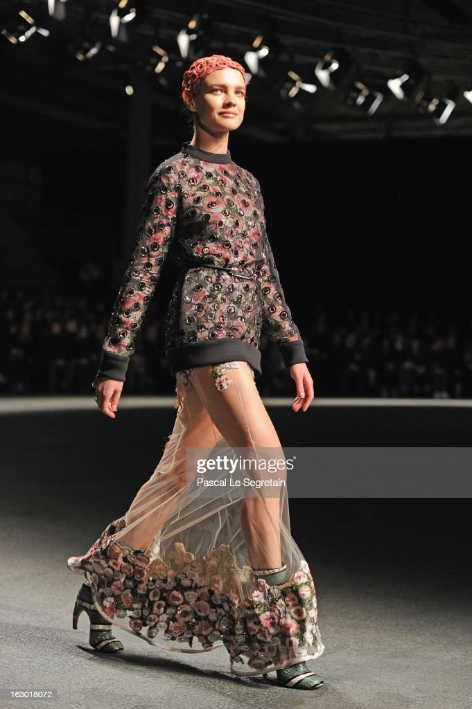 Natalia Vodianova walks the runway during the Givenchy Fall/Winter 2013 Ready-to-Wear show as part of Paris Fashion Week on March 3, 2013 in Paris, France.