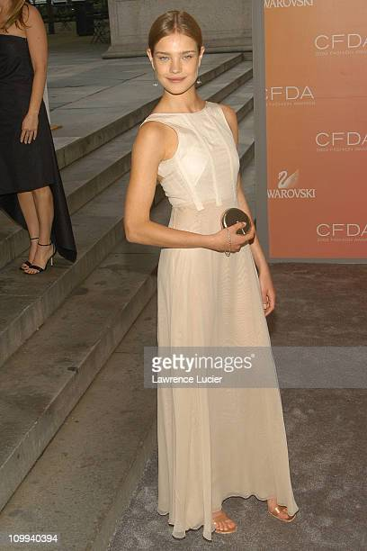 Natalia Vodianova wearing a Calvin Klein dress during The 2003 CFDA Fashion Awards Arrivals at New York Public Library in New York City New York...