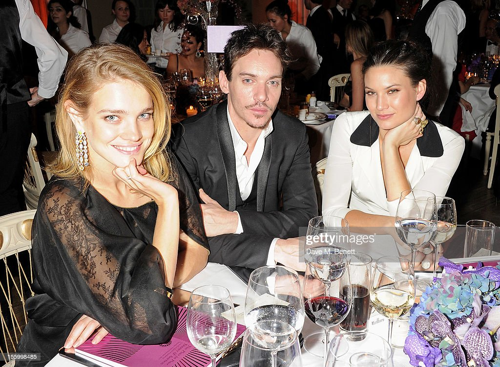 (L to R) <a gi-track='captionPersonalityLinkClicked' href=/galleries/search?phrase=Natalia+Vodianova&family=editorial&specificpeople=203265 ng-click='$event.stopPropagation()'>Natalia Vodianova</a>, wearing Star Diamond, <a gi-track='captionPersonalityLinkClicked' href=/galleries/search?phrase=Jonathan+Rhys+Meyers&family=editorial&specificpeople=206662 ng-click='$event.stopPropagation()'>Jonathan Rhys Meyers</a> and Victoria Keon-Cohen attend the Place For Peace dinner co-hosted by Ella Krasner and Forest Whitaker to support the Peace Earth Foundation in association with Star Diamond at Banqueting House on November 10, 2012 in London, England.