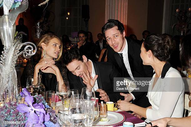 Natalia Vodianova wearing Star Diamond Jonathan Rhys Meyers James McAvoy and Victoria KeonCohen attend the Place For Peace dinner cohosted by Ella...
