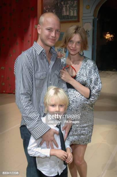 Natalia Vodianova with her husband Justin and her son Lucas attend Angelina Ballerina's Star Performance at the start of the 12 week regional tour...
