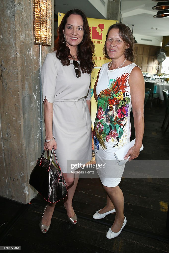 Natalia Woerner and Christina Rau attends the DKMS LIFE Charity Ladies lunch at Soho House on August 8, 2013 in Berlin, Germany.