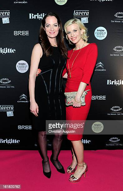 Natalia Woerner and Eva Habermann attend Brigitte Fashion Event 2013 at Hamburg Cruise Center on February 16 2013 in Hamburg Germany