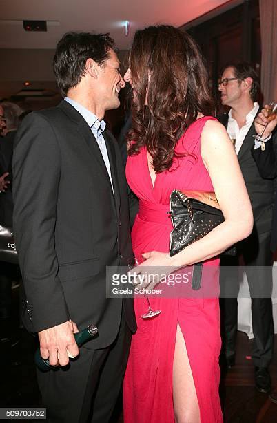 Natalia Woerner and her ex husband Robert Seeliger during the 'Berlin Opening Night of GALA UFA Fiction' at Das Stue Hotel on February 11 2016 in...
