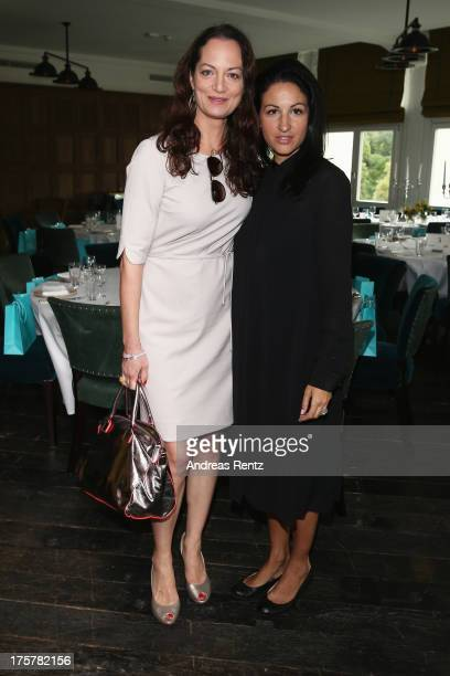 Natalia Woerner and Minu BaratiFischer attend the DKMS LIFE Charity Ladies lunch at Soho House on August 8 2013 in Berlin Germany