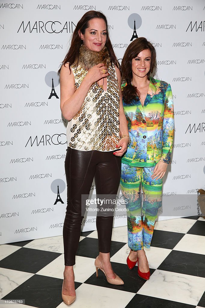 Natalia Woerner and Natalia Avelon attend the Marc Cain Photocall during the Mercedes-Benz Fashion Week Spring/Summer 2014 at the Hotel Adlon on July 4, 2013 in Berlin, Germany.