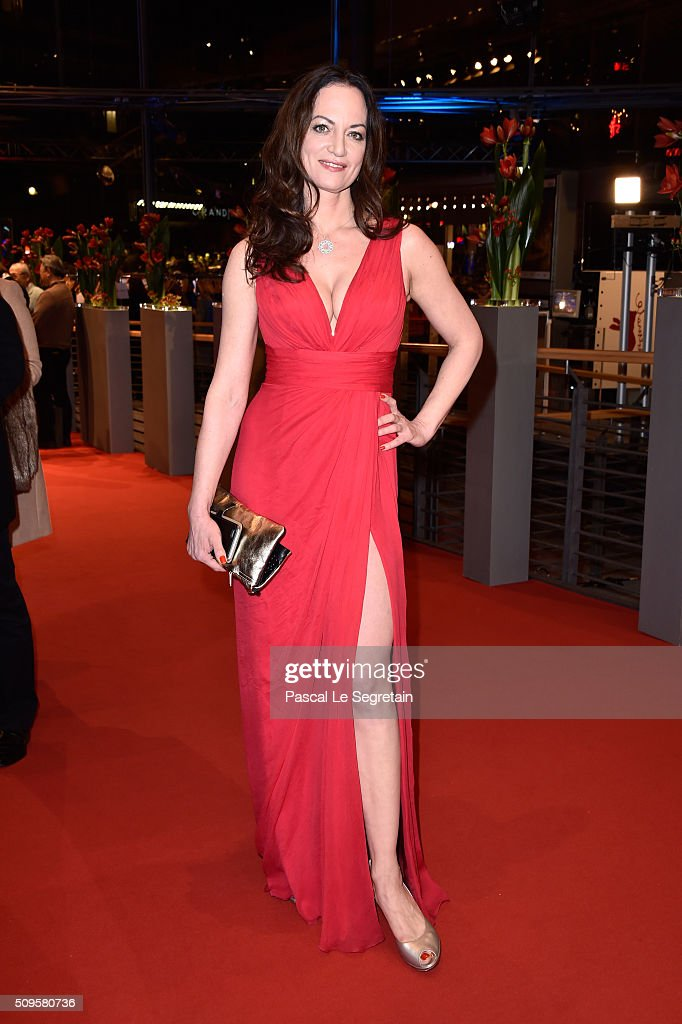 Natalia Woerner attends the 'Hail Caesar' premiere during the 66th Berlinale International Film Festival Berlin at Berlinale Palace on February 11...