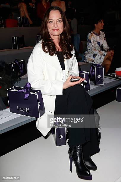 Natalia Woerner attends the Laurel show during the MercedesBenz Fashion Week Berlin Autumn/Winter 2016 at Brandenburg Gate on January 20 2016 in...