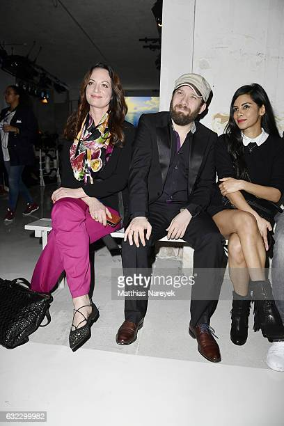 Natalia Woerner Christian Ulmen and Collien UlmenFernandes attend the 'Key Looks The Show' presented by Fashion ID show during the MercedesBenz...