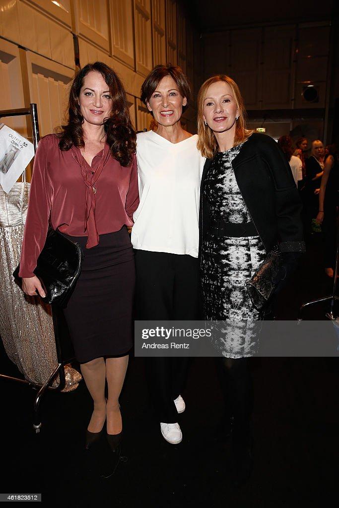 Natalia Woerner Eva Lutz and Katja Flint attend the Minx by Eva Lutz show during the MercedesBenz Fashion Week Berlin Autumn/Winter 2015/16 at...