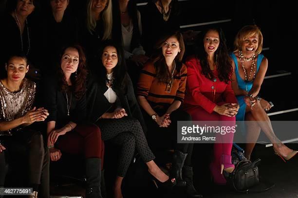 Natalia Woerner Minu BaratiFischer Carolina Vera and attend the Minx by Eva Lutz show during MercedesBenz Fashion Week Autumn/Winter 2014/15 at...