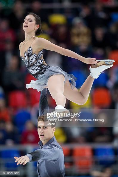 Natalia Zabiiako and Alexander Enbert of Russia compete during Pairs Free Skating on day two of the Rostelecom Cup ISU Grand Prix of Figure Skating...