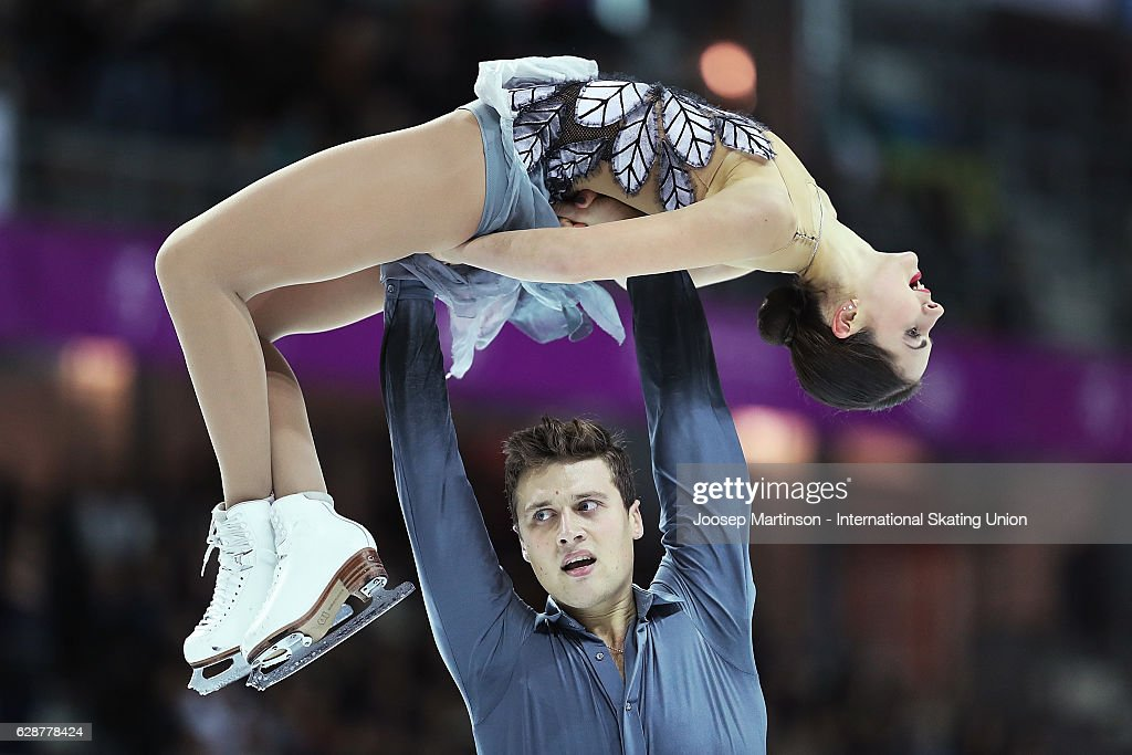 Natalia Zabiiako and Alexander Enbert of Russia compete during Senior Pairs Free Skating on day two of the ISU Junior and Senior Grand Prix of Figure Skating Final at Palais Omnisports on December 9, 2016 in Marseille, France.