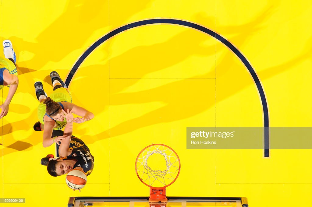 <a gi-track='captionPersonalityLinkClicked' href=/galleries/search?phrase=Natalie+Achonwa&family=editorial&specificpeople=7205881 ng-click='$event.stopPropagation()'>Natalie Achonwa</a> #11 of Indiana Fever shoots a lay up against the Dallas Wings during a preseason game on May 1, 2016 at Bankers Life Fieldhouse in Indianapolis, Indiana.