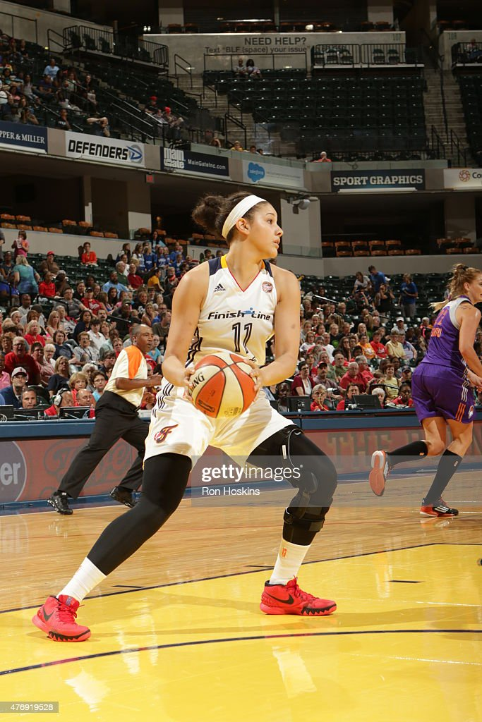 <a gi-track='captionPersonalityLinkClicked' href=/galleries/search?phrase=Natalie+Achonwa&family=editorial&specificpeople=7205881 ng-click='$event.stopPropagation()'>Natalie Achonwa</a> #11 of the Indiana Fever handles the ball against the Phoenix Mercury on June 12, 2015 at Bankers Life Fieldhouse in Indianapolis, Indiana.