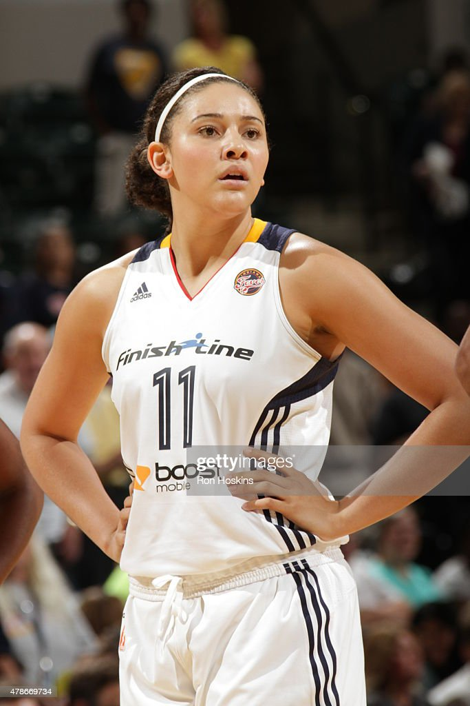 <a gi-track='captionPersonalityLinkClicked' href=/galleries/search?phrase=Natalie+Achonwa&family=editorial&specificpeople=7205881 ng-click='$event.stopPropagation()'>Natalie Achonwa</a> #11 of the Indiana Fever looks on against the Chicago Sky on June 26, 2015 at Bankers Life Fieldhouse in Indianapolis, Indiana.