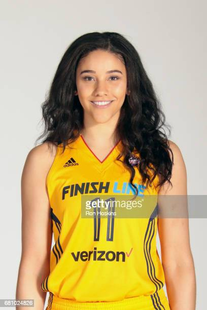 Natalie Achonwa of the Indiana Fever poses for a portrait during Media Day at Bankers Life Fieldhouse on May 9 2017 in Indianapolis Indiana NOTE TO...