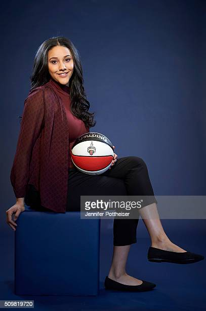 Natalie Achonwa of the Indiana Fever poses for a portrait during NBA AllStar Weekend on February 12 2016 at the Sheraton Centre in Toronto Ontario...