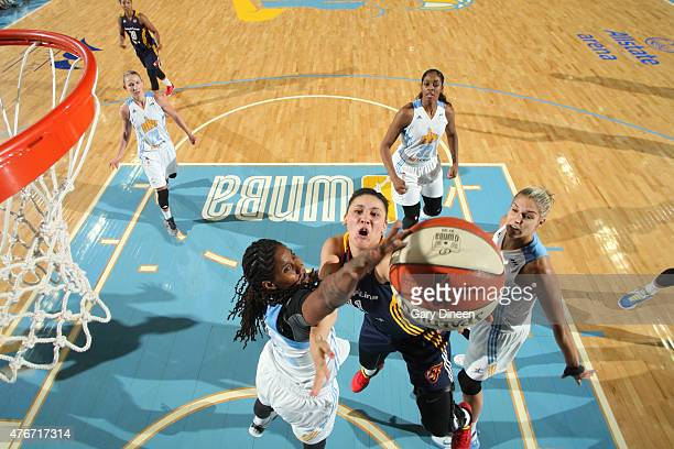 Natalie Achonwa of the Indiana Fever shoots against the Chicago Sky on June 5 2015 at Allstate Arena in Rosemont Illinois NOTE TO USER User expressly...